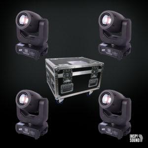 4 stk Venturelite Dodo Mk2 LED Spot Movinghead i flightcase