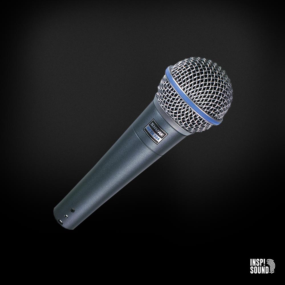 Shure Beta 58A inkl mikrofonstativ